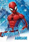 Marvel Spiderman Awesome Time Personalised Christmas Card