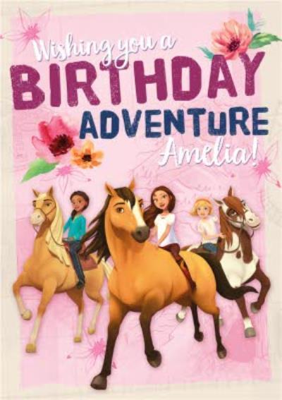Universal Dreamworks Spirit the horse riding free Birthday Adventure card