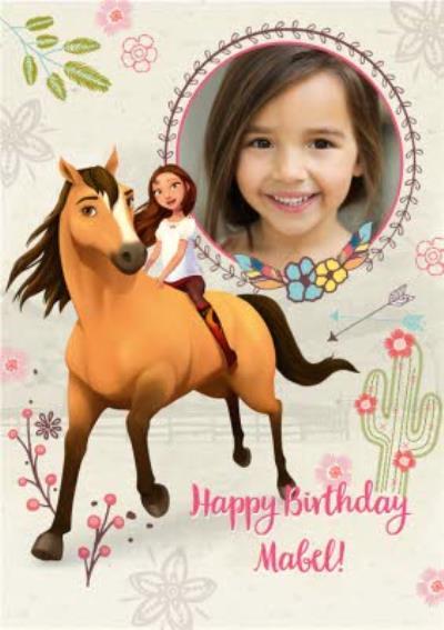 Universal Dreamworks Spirit the horse riding free photo upload Birthday card