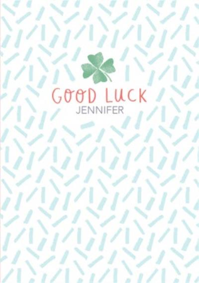 Good Luck Personalised Clova Card