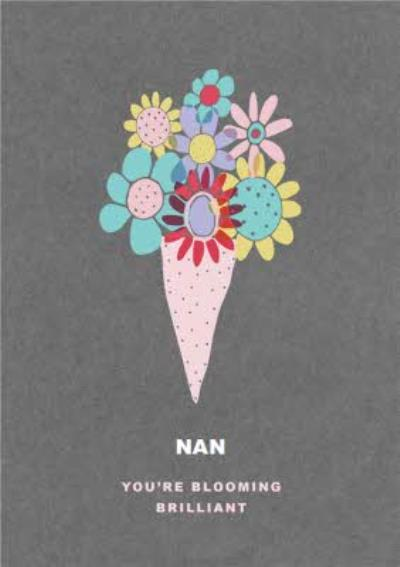 Mother's Day Card - Nan - Flowers