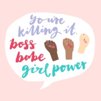 Boos Babe Card - Girl Power Card - International Women's Day Card - Just Because