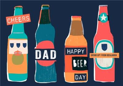 Happy Beer Day Cheers To Dad Happy Father's Day Card