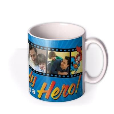 Father's Day Superman Dad Hero Photo Upload Mug