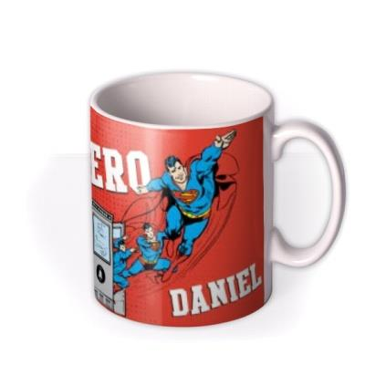 Superman Real Life Hero Personalised Name Mug