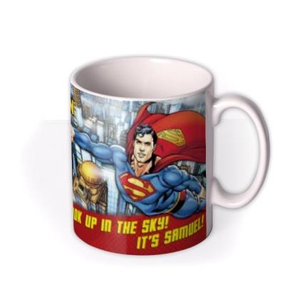 Superman Look Up In The Sky Photo Upload Mug