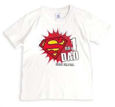 Father's Day Superman No.1 Personalised T-shirt