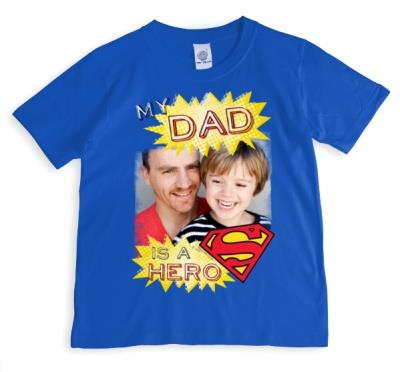 Father's Day Hero Dad Photo Upload T-shirt