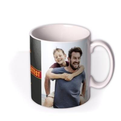 Father's Day Dad Superman Photo Upload Mug