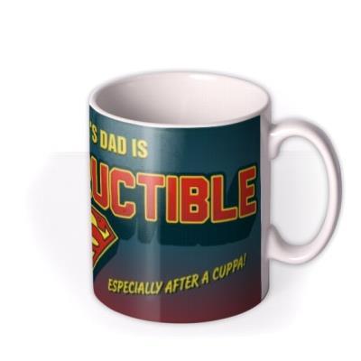 Father's Day Superman Indestructible Personalised Mug