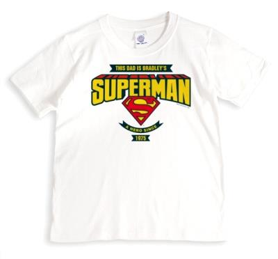 Father's Day Dad Superman Personalised T-shirt