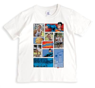 Superman Retro Comic Photo Upload T-shirt