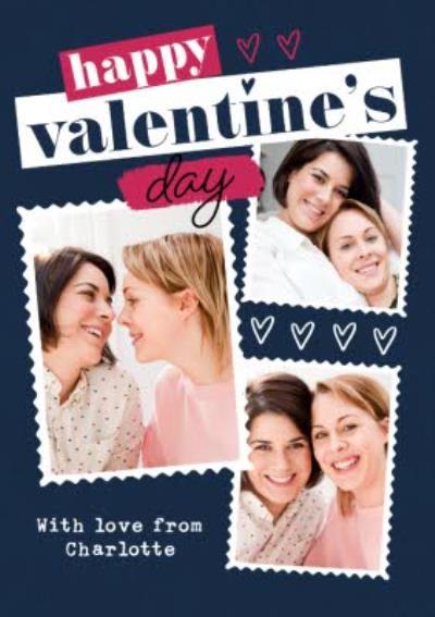 Happy Valentines Day Same Sex LBGTQ Photo Upload Valentines Card For Her