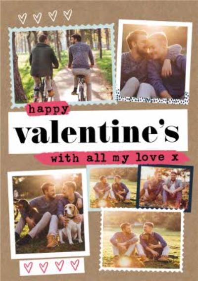 Happy Valentines Day Same Sex Photo Upload Valentines Card