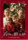 Christmas Card - Photo Upload - Stars - from all of us