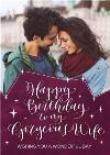 Gorgeous Wife Photo Upload Birthday Card