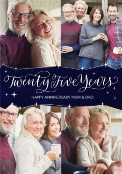 25th Anniversary Card for Mum and Dad - Twenty Five Years