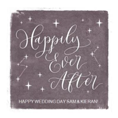 Wedding Day Card - Happily Ever After