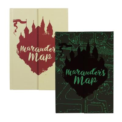 Harry Potter Glow in The Dark 'Marauder's Map' A5 Notebook