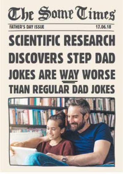 Bad Step Dad Jokes Father's Day Card