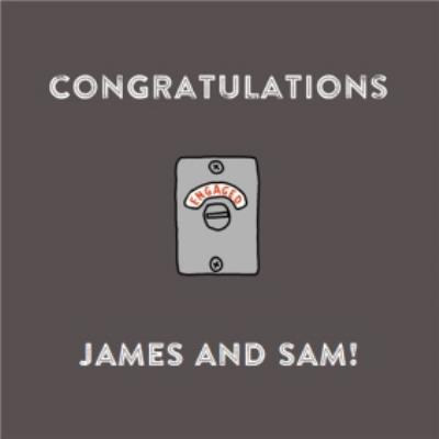 Set To Engaged Personalised Congratulations You're Engaged Card