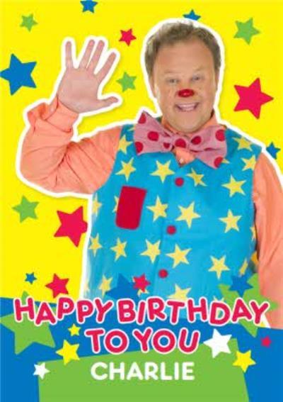 Mr Tumble Birthday Card - Happy Birthday to you