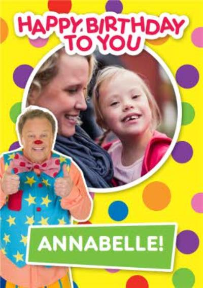 Mr Tumble Birthday Card - Happy Birthday photo upload