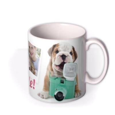 Cute Puppy Behind A Camera Multi-Photo Mug