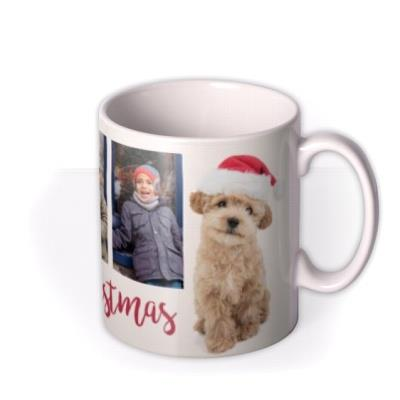 Cute Puppy Photo Upload Christmas Mug