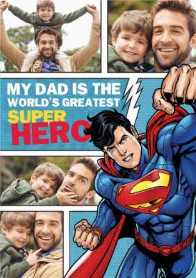 Dc Comics Superman My Dad Is The Worlds Greatest Superhero Multi-Photo Card