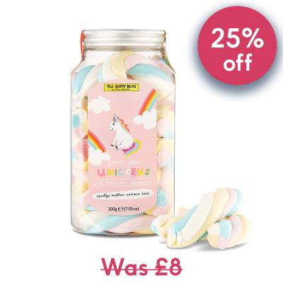 Happy News Unicorn Marshmallow Jar