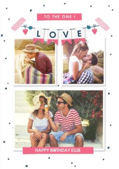 To the one I love Happy Birthday Photo upload Postcard