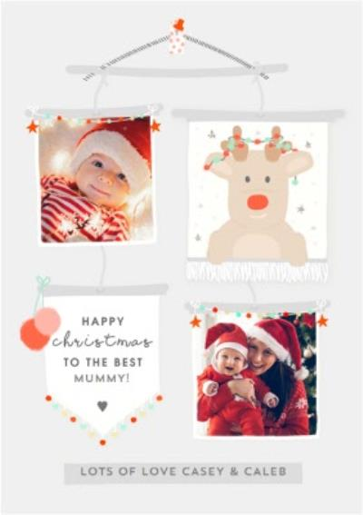 Modern Christmas Photo Upload Card To The Best Mummy!