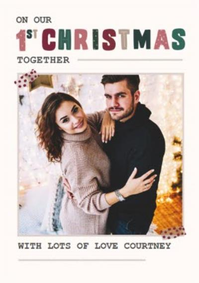 Our First Christmas Together Photo Upload Card