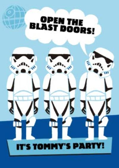 Star Wars Stormtroopers Birthday Party Invitation