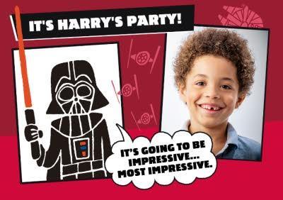 Star Wars Darth Vader Birthday Party Invitation