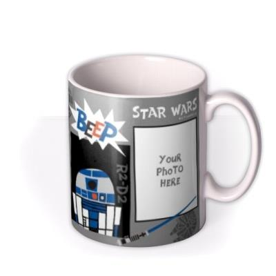 Star Wars R2, C3PO, and Darth Vader Cartoon Photo Upload Mug