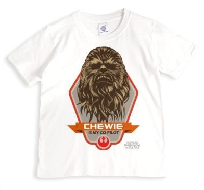Star Wars Chewbacca Co-Pilot Personalised T-shirt