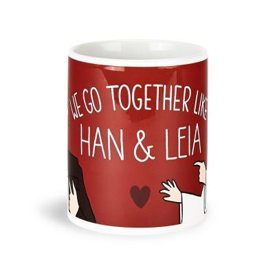 Star Wars 'We Go Together Like Han & Leia' Mug