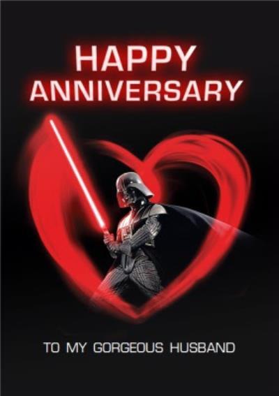 Star Wars Darth Vadar Happy Husband Husband Card