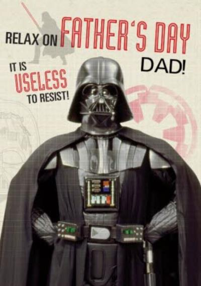Star Wars Darth Vader Relax On Father's Day Card