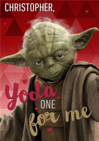 Star Wars Yoda One For Me Funny Valentines Day Card