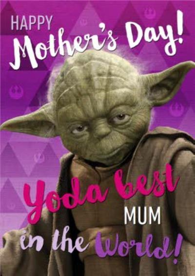 Star Wars Yoda Best Mum In The World Card