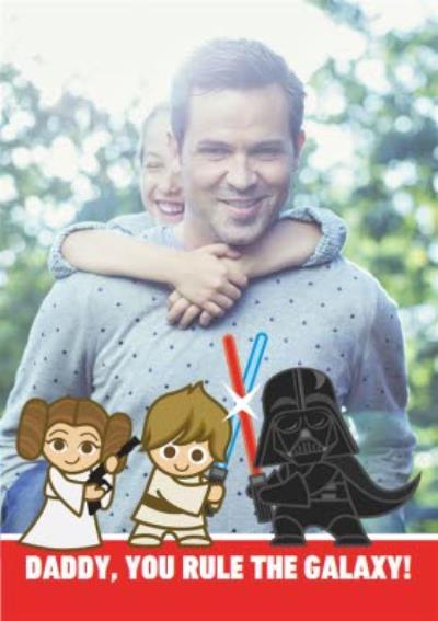 Star Wars Cartoon Characters Photo Upload Card