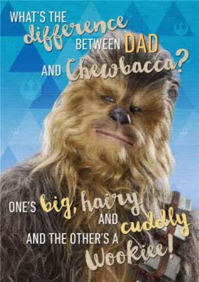 Star Wars Chewbacca Personalised Card