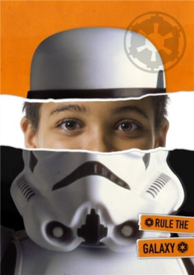 Star Wars Storm Trooper Face Photo Card