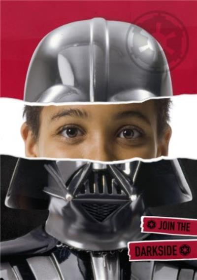 Star Wars Darth Vader Face Photo Card