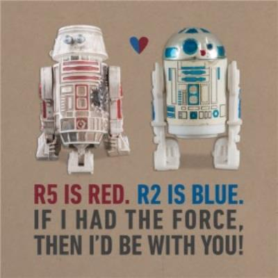 Star Wars R5 And R2 Force Be With You Valentines Card
