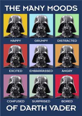 Star Wars Many Moods Of Darth Vader Card