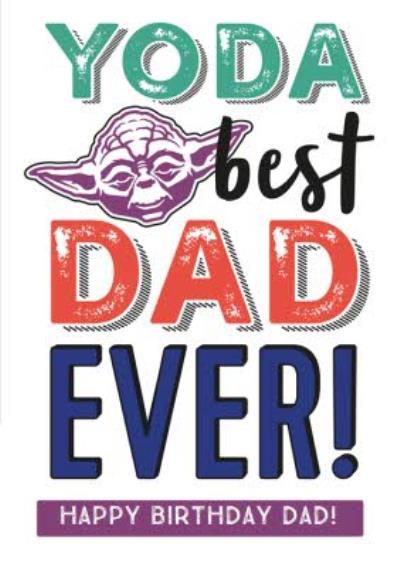 Dad Birthday card - Star Wars - Yoda